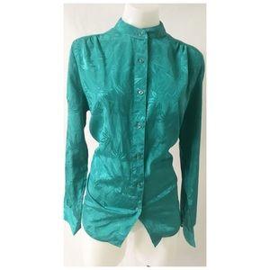 Green Vintage Top Size Large